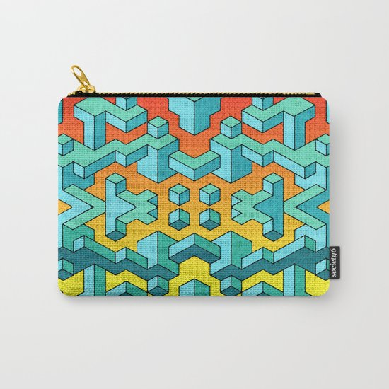 Miles and Miles of Squares Carry-All Pouch