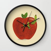 home sweet home Wall Clocks featuring Home Sweet Home  by Terry Fan