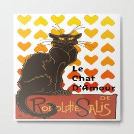 Le Chat Damour De Rodolphe Salis Valentine Cat Metal Print