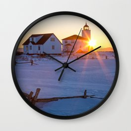 Île Verte Lighthouse Wall Clock