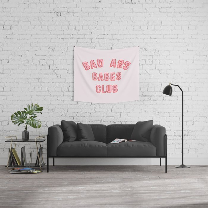 BAD ASS BABES CLUB Wall Tapestry