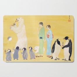 Penguin and Polar Bear in JAPAN Cutting Board