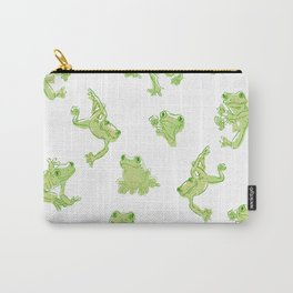 Froggy Frog large green Carry-All Pouch