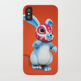 Lucha Rabbit-Blue Brother iPhone Case