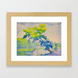 Bending Tree 1905 Henri-Edmond Cross Neo-Impressionism Pointillism Oil Painting Framed Art Print