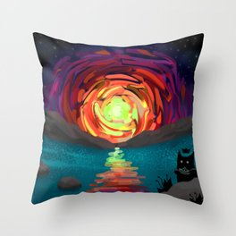 Shadow Tales: March Throw Pillow