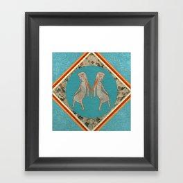 Girls in Spa Framed Art Print