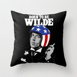 Born to be Wilde Throw Pillow