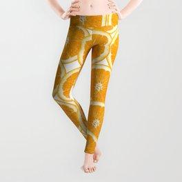Summer Citrus Orange Slices Leggings