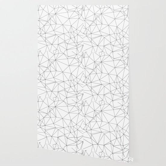 Black And White Geometric Minimalist Pattern Wallpaper