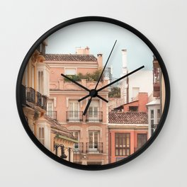 Mediterranean City - Houses and Street Wall Clock