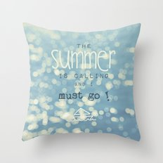 SUMMER IS CALLING Throw Pillow