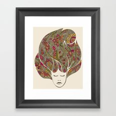Dreaming with flowers Framed Art Print