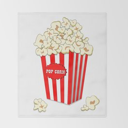 Popcorn time Throw Blanket
