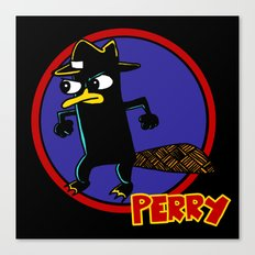 Perry The Platypus as Dick Tracy Canvas Print