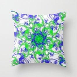 Symmetrical Swirl Throw Pillow