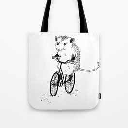 Opossums bike, too Tote Bag