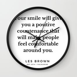 29 |  Les Brown  Quotes | 190824 Wall Clock