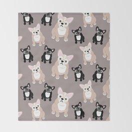 French Bulldog Puppies Throw Blanket