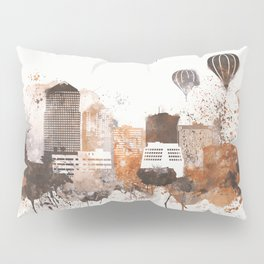 Brown Albuquerque skyline design Pillow Sham