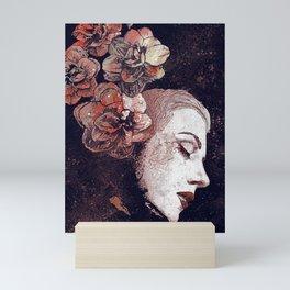 Obey Me: Blood (graffiti flower woman profile) Mini Art Print