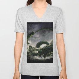 Jormungandr the Midgard Serpent Unisex V-Neck