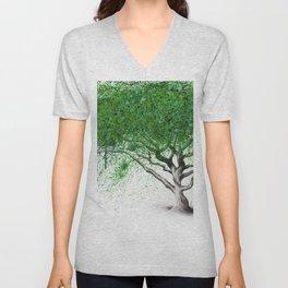 Green Breeze Tree Unisex V-Neck