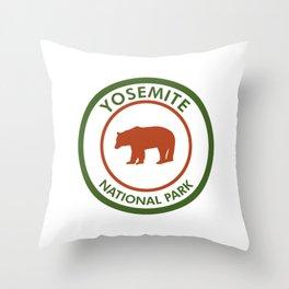 Yosemite National Park Bear Throw Pillow