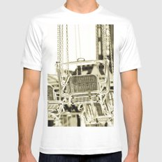 Travelling Chairs Mens Fitted Tee MEDIUM White