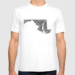 Typographic Maryland T-shirt