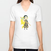 loki V-neck T-shirts featuring Loki by Nozubozu