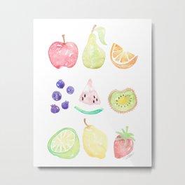 Fruit Smoothie Metal Print