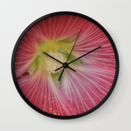 Heart of a Hollyhock Blossom Wall Clock