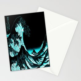The Great Wave : Dark Teal Stationery Cards