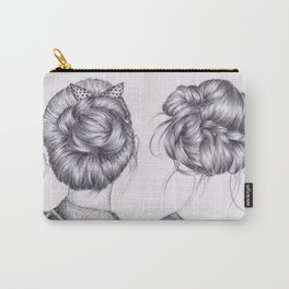 hair drawing (bow) Carry-All Pouch