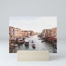 Venice Grand Canal views from Rialto Bridge Mini Art Print