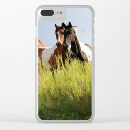 The Wild Bunch-Horses Clear iPhone Case