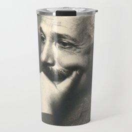 Albert Einstein rare photo Travel Mug