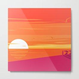 A Glorious Sunset  Metal Print