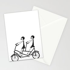 tandem bicycle Stationery Cards