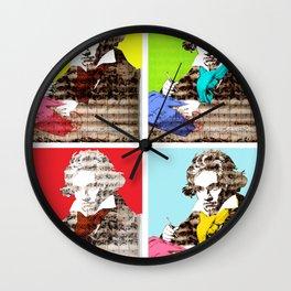 Ludwig van Beethoven 4x Wall Clock