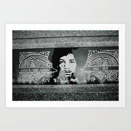 """""""excuse me while i kiss the sky"""".....J.Hendrix Art Print"""