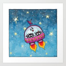 Space Lovers Art Print