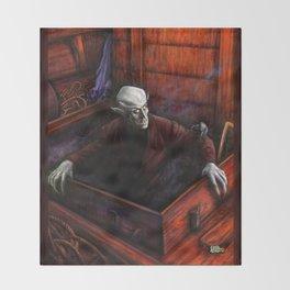 Dracula Nosferatu Vampire King Throw Blanket