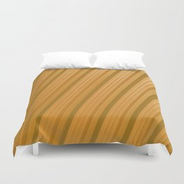Stripes II - Golden Duvet Cover