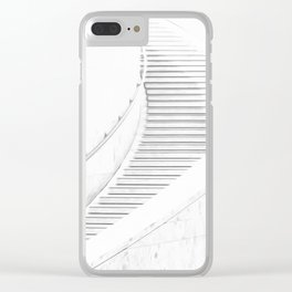 Stairway Illustration Clear iPhone Case