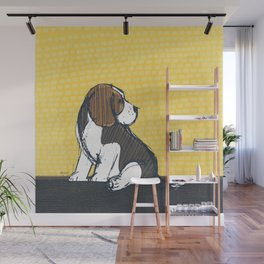 Beagle Puppy Portait by Friztin Wall Mural