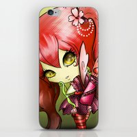 valentina iPhone & iPod Skins featuring Valentina by ASerna