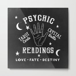 Psychic Readings Fortune Teller Art Metal Print