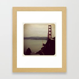 San Frans Cloudy Day Framed Art Print